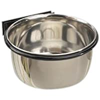 ProSelect 8-Ounce Stainless Steel Coop Cups for Pet Food – Pet Bowls Attaches Securely to Cage with Plate and Wingnut