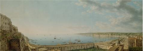 [Oil Painting 'A View Of The Bay Of Naples, Looking Southwest From The Pizzof, C 1781 By Giovanni Battista Lusieri' 12 x 33 inch / 30 x 84 cm , on High Definition HD canvas prints, Basement, Di] (South Pacific Costumes)