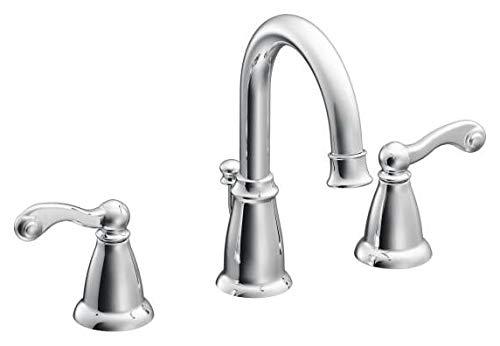 Faucet Lavatory 2h Chrome (TRADITIONAL 2H WS CHR / Chrome two-handle bathroom faucet)