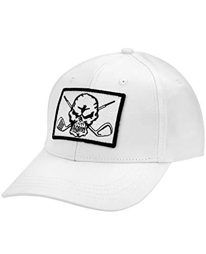 TattooGolf Skull Adjustable Golf Hat (White Patch) ()