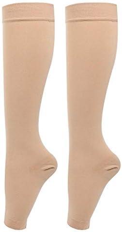 Lv. life Kompressionsstrümpfe, 1 Paar Kniehohe Kompressionsstrümpfe Krampfadern Socken Beinschmerzlinderung Socken für Männer Frauen Laufen Athletic Travel(S)