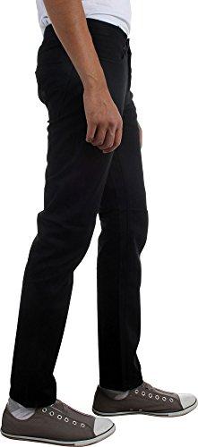 KR3W Mens K Slim 5 Pocket Pants, Black, Size 36