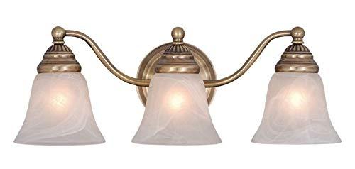Vaxcel VL35123A Standford 3 Light Vanity Light, Antique Brass Finish