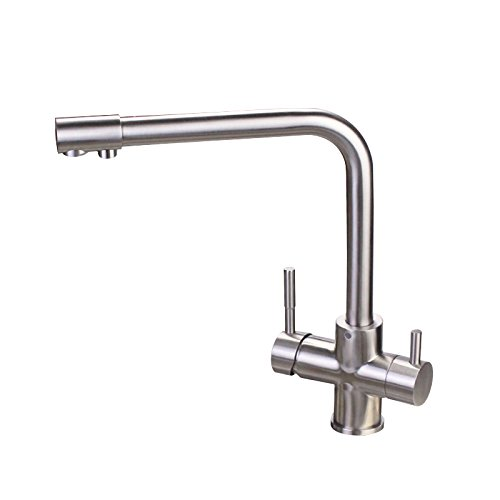 Kohsed Kitchen Water Purifier Straight Tap Water Trough Wash Basin Faucet 304 Stainless Steel Cold And Hot Water Threemodern Simple Luxury Quality Guarantee Home Decoration