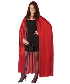 Fun World Women's Hooded Cape, red, Standard ()