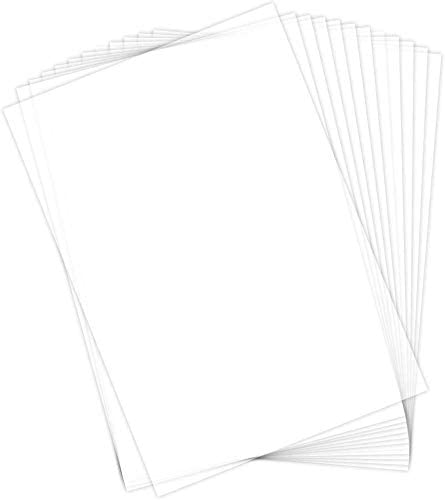 15 Clear Sheets for Inkjet Printers Printable Transparent Sticker Paper 8.5 X 11 Blank Custom Label Sticker Sheets