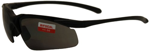 Cheap Global Vision Apex Bifocal Safety Glasses (Black Frame/Smoke Lens) free shipping