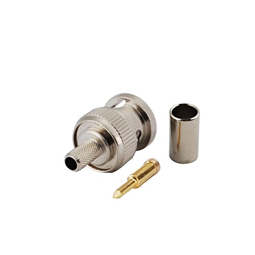 Rg58 Crimp Type - Eightwood 50 Ohm BNC Crimp Male Connector for RG58 RG400 LMR195 (Pack of 10)