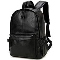 Korean version Fashion Stylish Leather Shoulder bag backpack high capacity travel bag 15inch laptop bag For Men