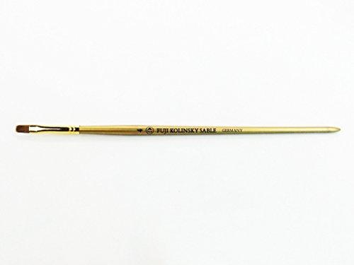 Flat Sable Nail (Fuji Kolinsky Sable Brush (Long Flat Shaped, Gold Handle) Size # 4)