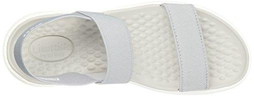 Literide W gris Crocs blanc clair Sandale plate Women's v5gBOqwT