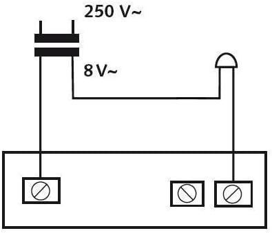 rectangular de poliestireno Huber timbre 12121 iluminado 1/compartimento Aufputz