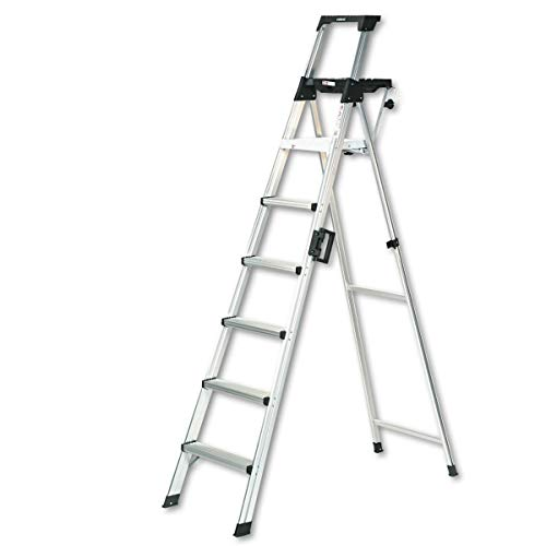Cosco 8 ft. Signature Series Aluminum Folding Step Ladder with Leg Lock & Handle, 300 lb. Type IA Duty Rating