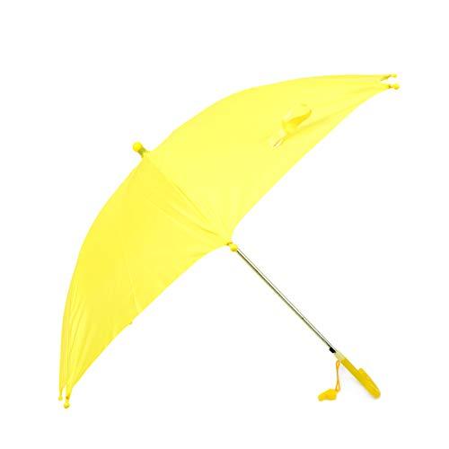 BG Children's Kid's Auto Open Lightweight Umbrella with Novelty Whistle (Yellow)]()