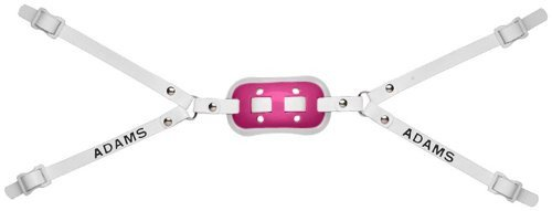 Gel Cup Football Chin Strap - Adams USA GEL-100-4D 4-Point High Football Chin Strap with D-Rings, Pink