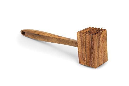 Ironwood Gourmet 28984 Acacia Wood Meat Tenderizer, 12-Inches, Brown