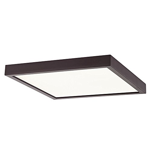 Flat LED Light Surface Mount 10-inch Square Bronze 3000K 1495LM by Design Classics