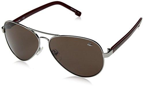 Lacoste L163s Aviator Sunglasses, Steel, 62 - Sunglasses Unisex Lacoste
