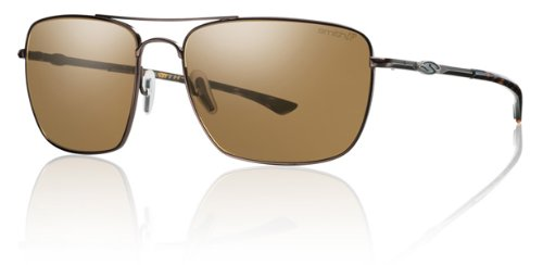 Smith Optics Nomad Premium Lifestyle Polarized Designer Sunglasses - Matte Brown/Brown / Size 59-17-140