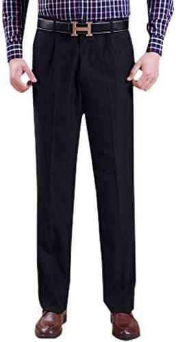 Business Straight Dress Pants XFentech Mens Long Trousers