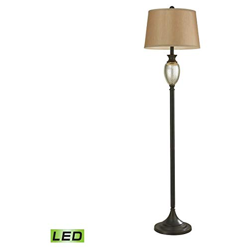 Floor Lamps 1 Light Fixtures with Antique Mercury Glass and Bronze Finish Glass and Metal Material Medium 17