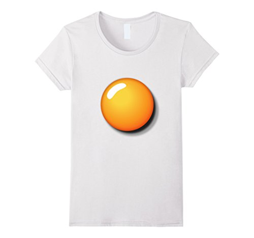 Pregnant Lady Halloween Costumes Ideas (Womens Fried Egg Shirt Funny DIY Halloween Costume Ideas Egg Yolk Large White)