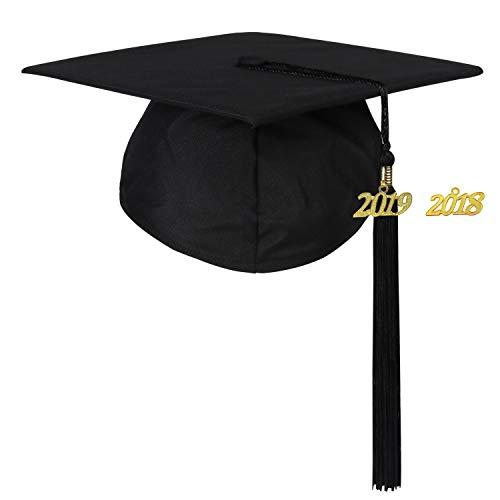 Newrara Graduation Unisex Matte Adult Graduation Cap with Ta