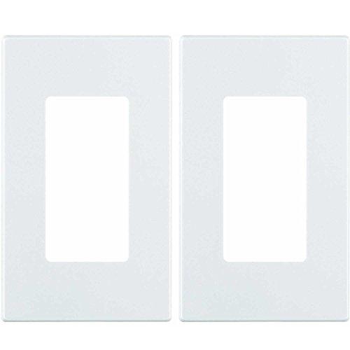 Screwless Leviton Gang 1 - Leviton 80301-SW 1-Gang Decora Plus Wallplate Screwless Snap-On Mount (2 Pack, White)