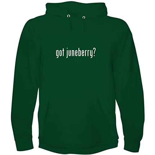 The Town Butler got juneberry? - Men's Hoodie Sweatshirt, Green, X-Large (Bright Starts Juneberry Delight Walk A Bout)