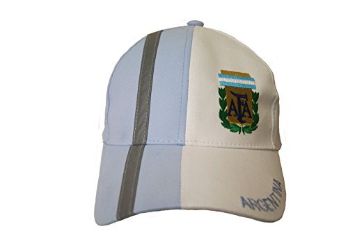 Argentina Blue White AFA On Brim FIFA Soccer World Cup Embossed Hat Cap .. New - WC .. .. New