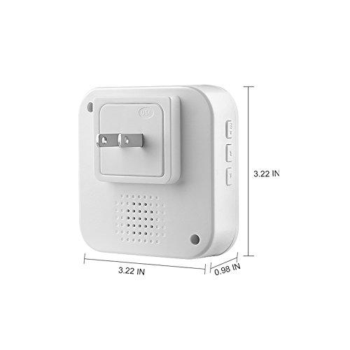 [해외]AKASO 무선 현관의 차임, AKASO 비디오 초인종을위한 실내 차임, 55 개의 조정 차임이있는 5 단계 조절 볼륨/AKASO Wireless Doorbell Chime, Indoor Chime for AKASO video doorbell, 5-Level Adjustable Volume with 55 Tune Chimes