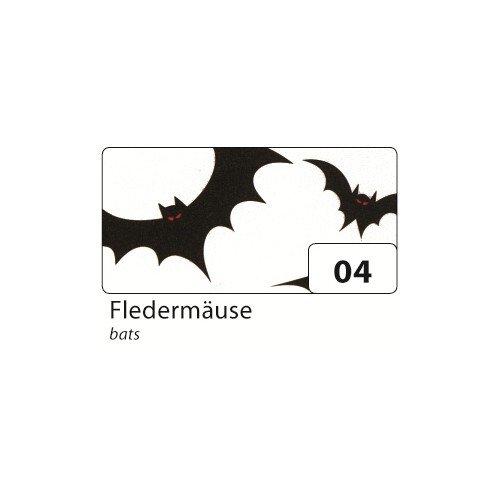 1 Rolle folia 85604 Transparentpapier Halloween 115g//m/² Flederm/äuse schwarz//wei/ß 50,5x70cm