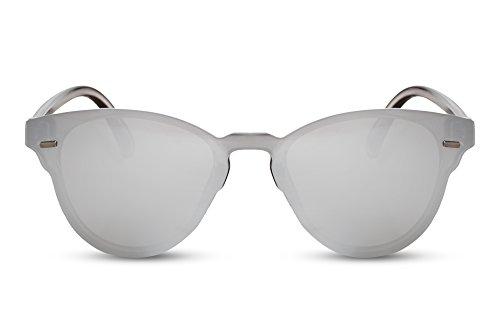 soleil Cheapass yeux Style de métal effet Rondes Argenté5 de chat miroir plats Verres Lunettes rExwFqgr