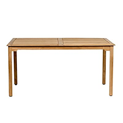 Amazonia Teak Maliana Teak Rectangular Dining Table - Amazonia Teak Collection 1 rectangular table 35w x 59d x 29h High Quality Teak Wood (Tectona Grandis) - patio-tables, patio-furniture, patio - 31K8cCM5i%2BL. SS400  -