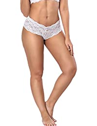 adf7316e08560 Women Sheer Lace Boy Shorts Panties Plus Size Briefs Underwear Hipsters  M-6XL