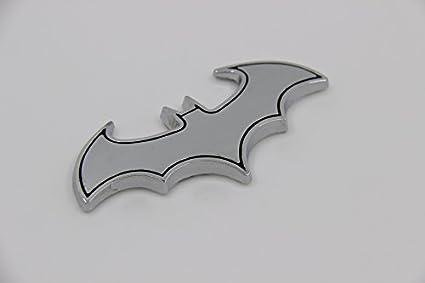 e777 Batman Plata Auto Emblema Texto Badge lado Car Sticker nuevo ...