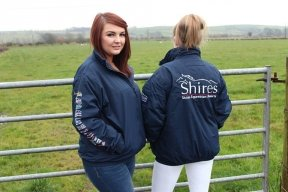 Shires UNISEX Branded Alberta waterproof jacket Adult SMALL ...