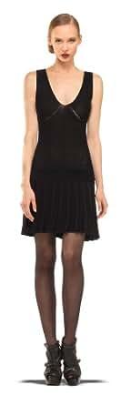 Sleeveless Linen Sweater Dress - 3204055-BLACK-XL