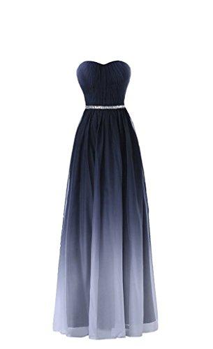 Grau Ballkleider Schulter Blau 2018 Damen Sommer Steine mit Abendkleider Neu Dunkel Ein glaenzende Charmant x648Ow