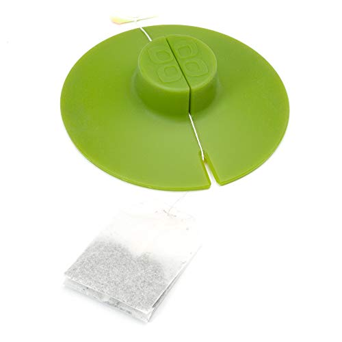 Epoca TBGN-0142 Kitchen Tool Primula Tea Bag Buddy &ampndash Easy to Use &ampndash Mess Free &ampndash Multipurpose &ampndash 100% Silicone &ampndash Green, 4.25-Inch