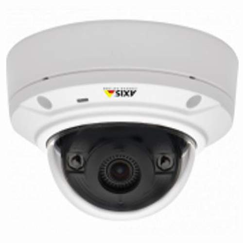 Axis 0535-001 Day and Night Outdoor-Ready Infrared Fixed Mini Dome Network Camera (White)
