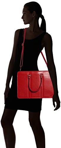 Organisateur cuir sac des véritable Italy 100 in Rouge de CTM hommes 38x27x9cm document Rosso travail Made xq8BWwFAY