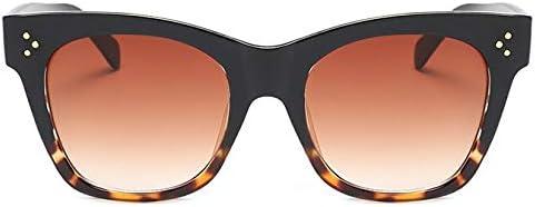 Occhiali da sole quadrati oversize Donna Moda Occhiali da sole retrò sfumati Uomo Nero Grande montatura per occhiali Vintage Blackleopard