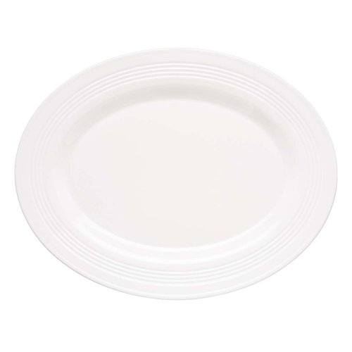 Lenox Tin Can Alley 16-Inch Oval Platter, White ()