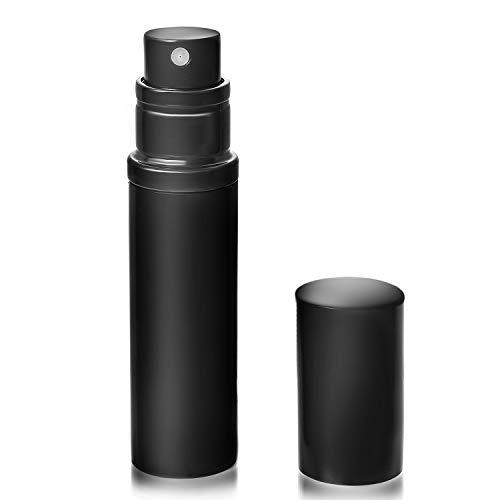 スロベニアペースウォーターフロントアトマイザ- 香水 クイックアトマイザー ワンタッチ 入れ物 簡単 持ち運び 詰め替え ポータブルクイック 容器 香水噴霧器 ブラック YOOMARO