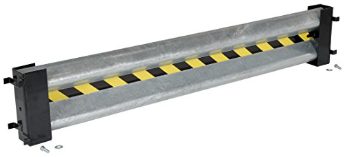 (Vestil GR-D-6 Galvanized Guard Rail with 2 Drop-In Brackets and Hardware, 72