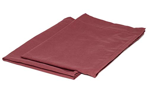 College Colors Pillowcases 100% Brushed Microfiber, Hypoallergenic Pillow Cover - Dorm Bedding Soft, Stain, Fade and Wrinkle Resistant (Standard 20x30 - 2 Pack, Dark Red)