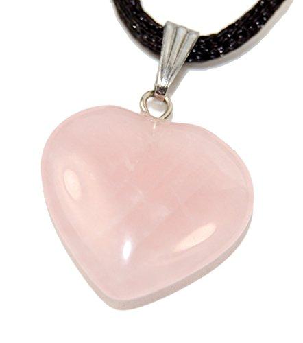 Big Heart Collection - 20mm Classic Rose Quartz Pink, 20