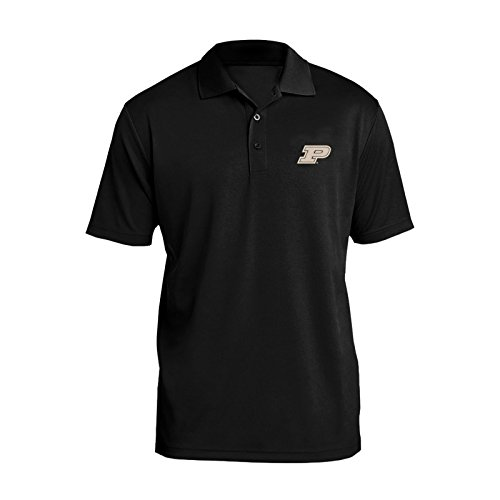 UGP Campus Apparel AP07 - Purdue Boilermakers Primary Logo Left Chest Mens Polo - 3X-Large - Black