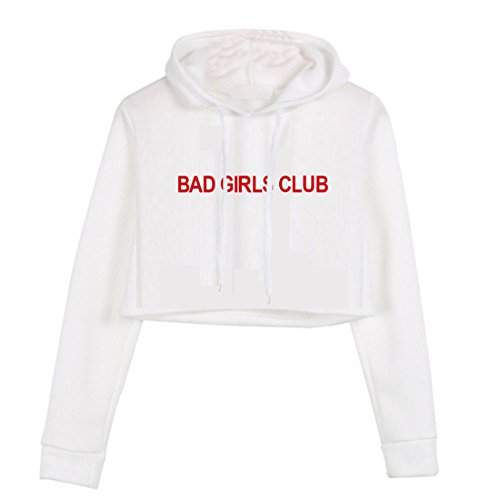 Casual Blanco Manga Pullovers Crop Cute Larga Hoodies Blackmyth Estampar Sudaderas Para Mujer EpwAqEf